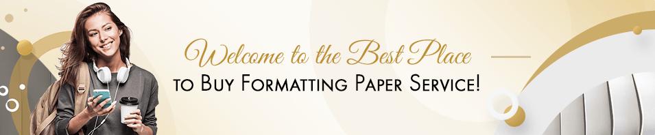 Order Formatting Paper Service