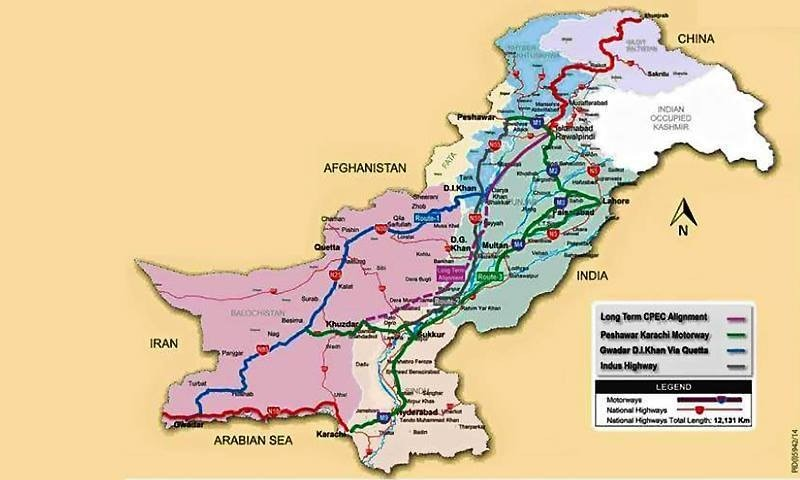 Chinese-Pakistani Proposed Economic Corridor