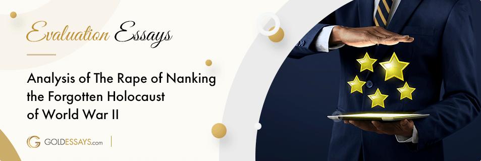 The Rape of Nanking Free Essay